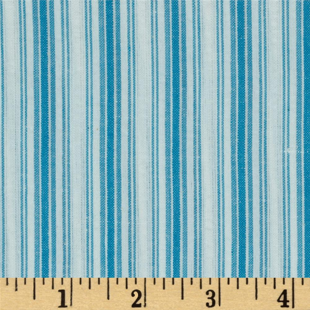 Seersucker Stripe Aqua/White
