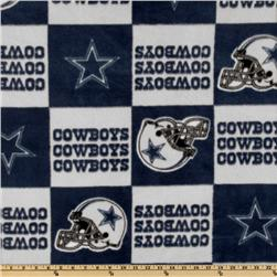 NFL Fleece Dallas Cowboys Blue Blocks