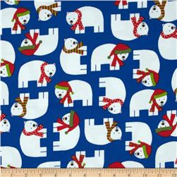 Robert Kaufman Jingle Flannel Polar Bears Winter