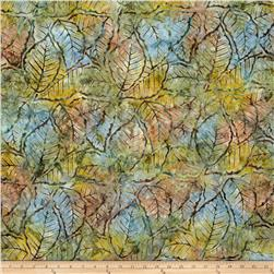 Wilmington Batiks Packed Leaves Brown/Green