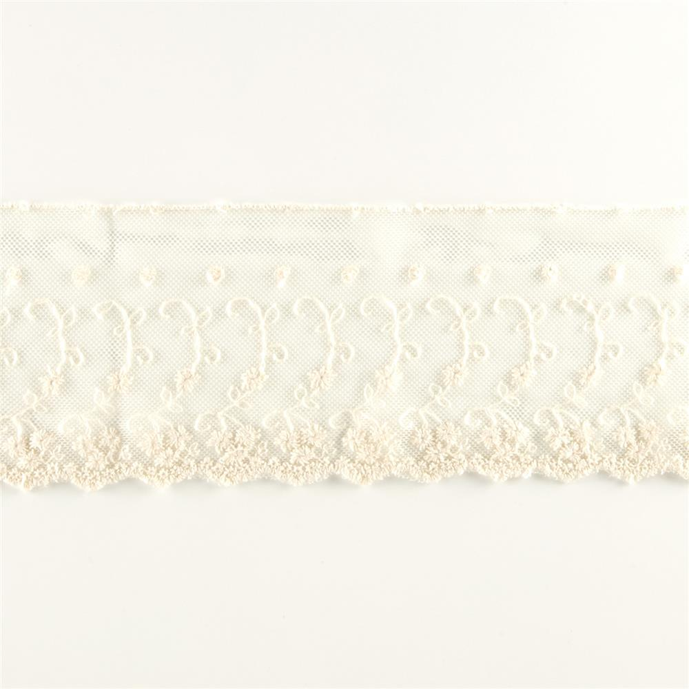 "Riley Blake 4"" Decorative Lace Cream"