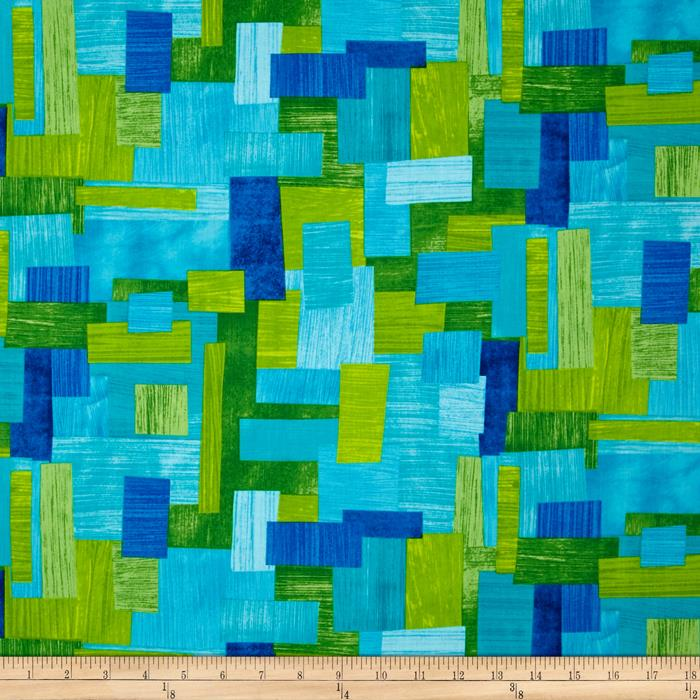 Kanvas Art Class Paper Collage Blue/Green