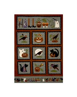 Pumpkin Party Flannel Halloween 36 In. Panel Gray
