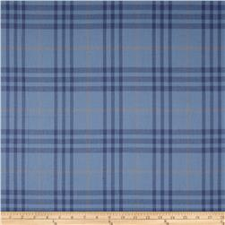 Burberry Designer 3-Ply Cotton Voile Plaid Blue/Tan
