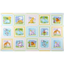 Gingham Safari Blocks Panel Pastel