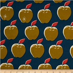 Cotton + Steel Picnic Canvas Apples Teal