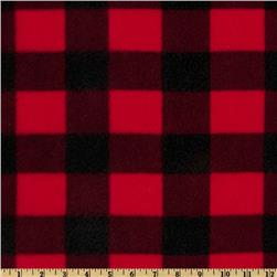 Fleece Plaid Buffalo Black/Red