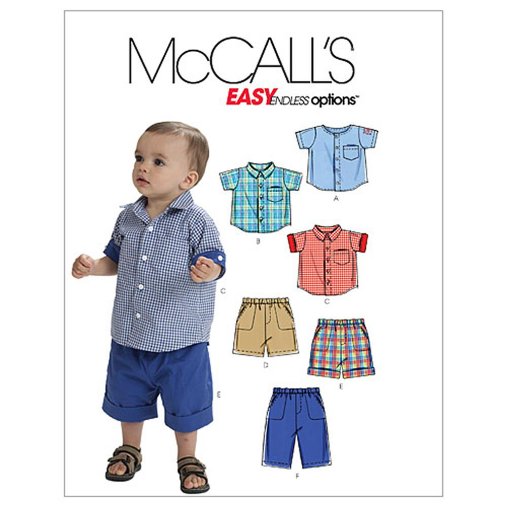 McCall's Infants' Shirts, Shorts And Pants Pattern M6016 Size OSZ