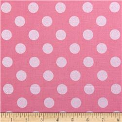Riley Blake Hollywood Sparkle Medium Dot Hot Pink