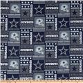 NFL Cotton Broadcloth Dallas Cowboys Patchwork Blue/White