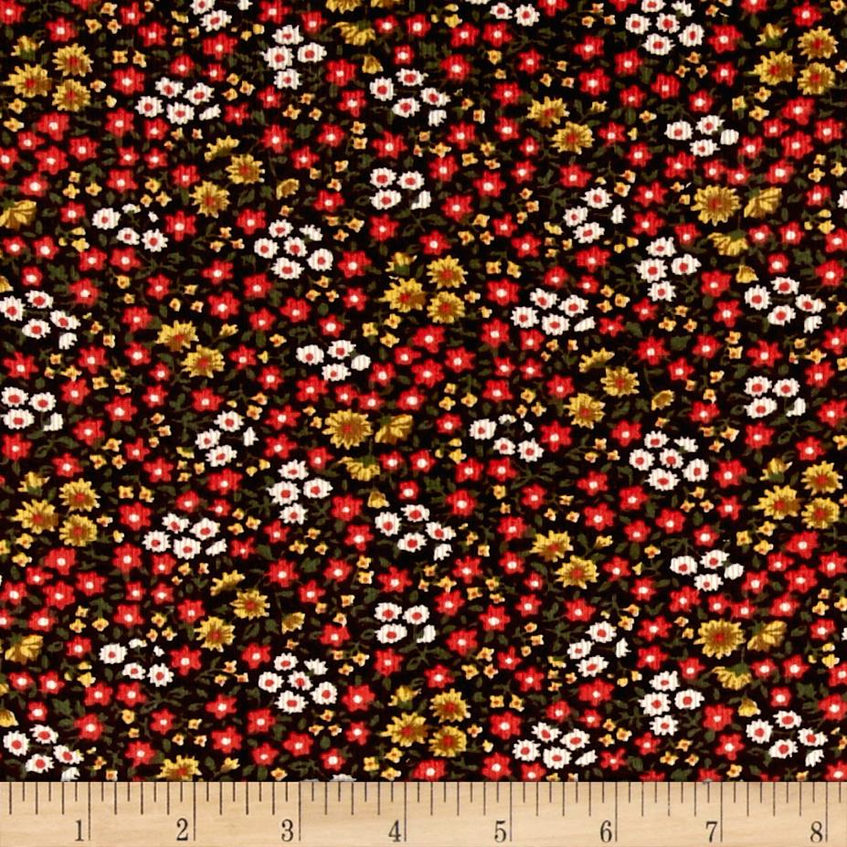 Corduroy Flowers Red