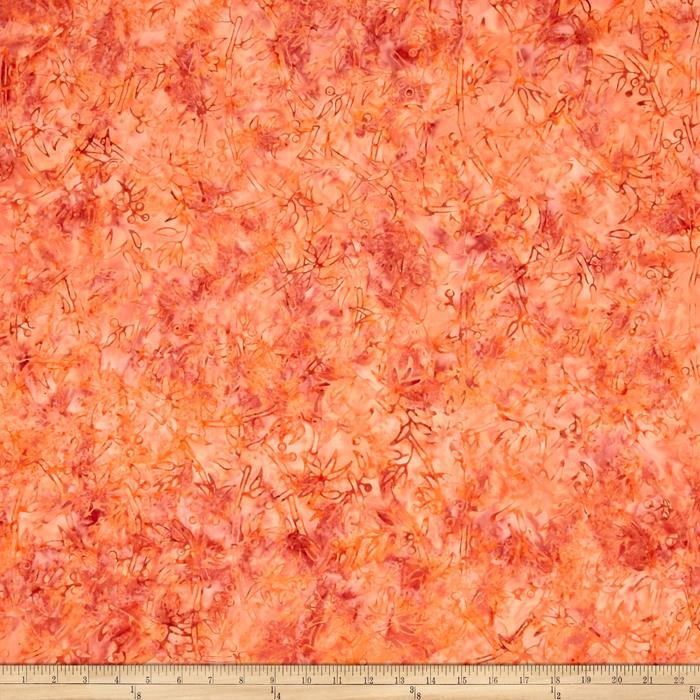 Jinny Beyer Malam Batiks III Floral Orange
