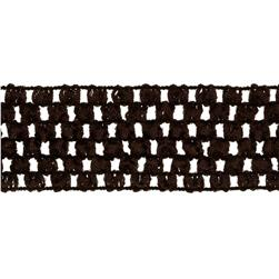 "1 3/4"" Crochet Headband Trim Chocolate"