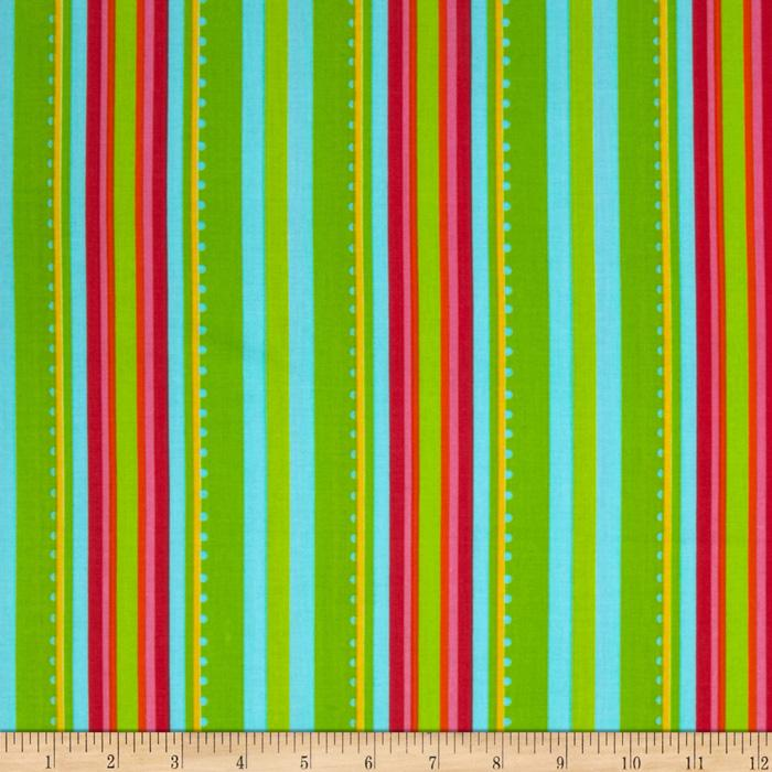 Garden Party Gazebo Stripe Aqua