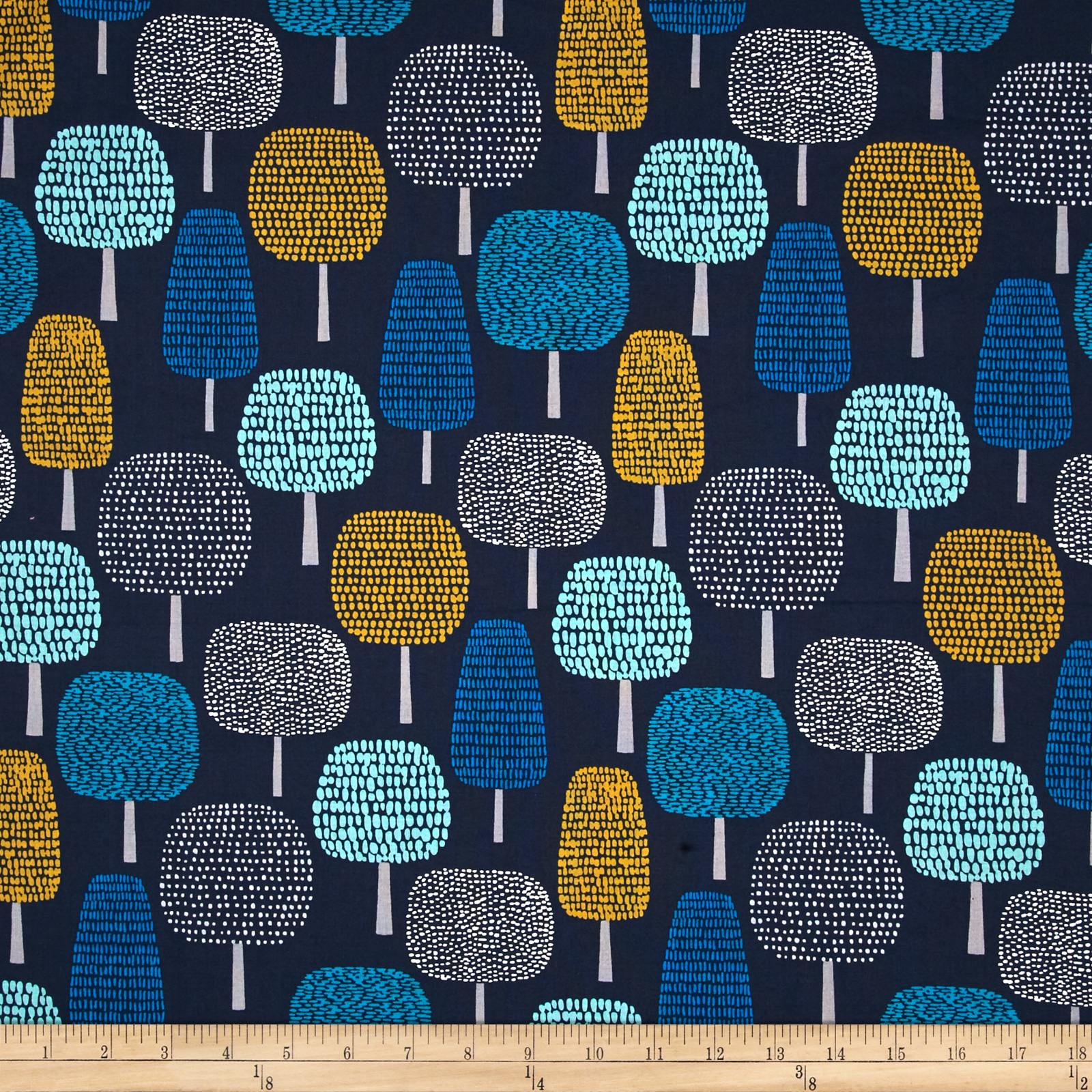 Cloud 9 Organic First Light Glade Navy Fabric by Cloud 9 in USA