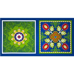Michael Miller Garden Party Garden Bandana Pillow Panel Blue