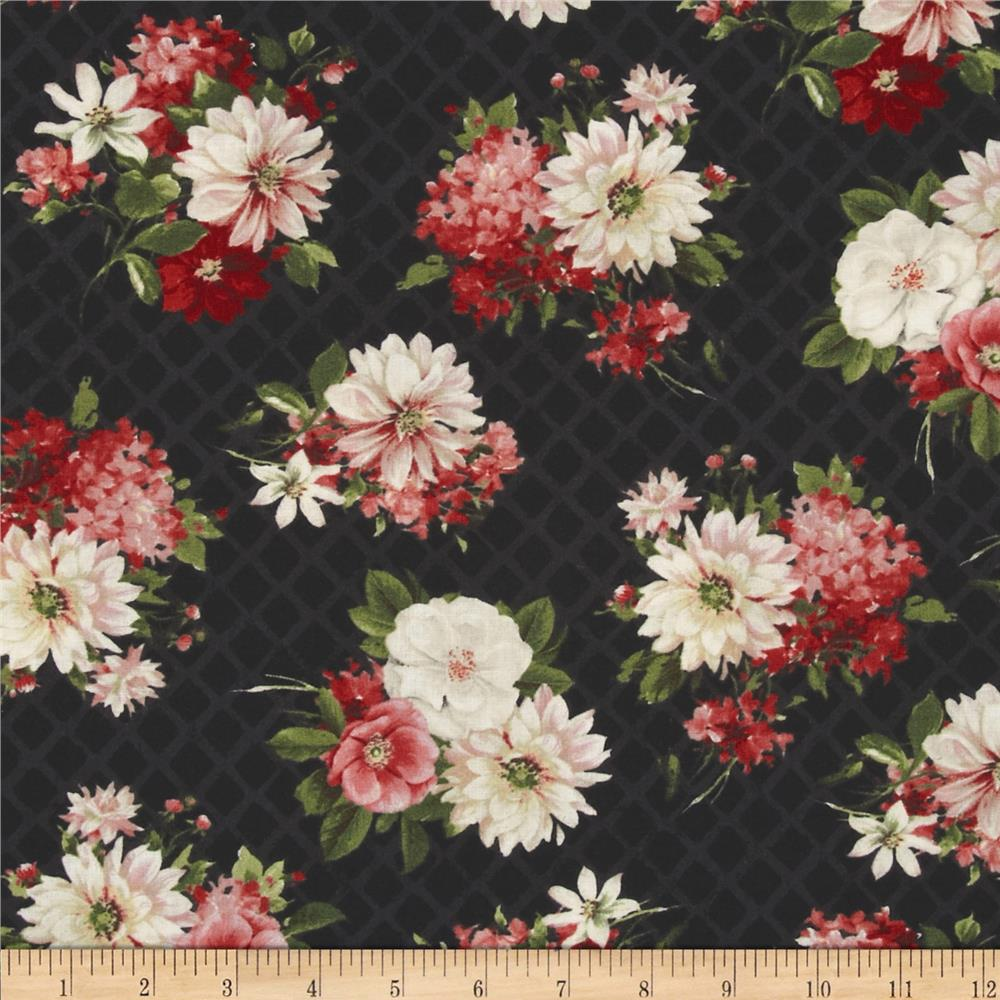 From Paris with Love Floral Allover Black