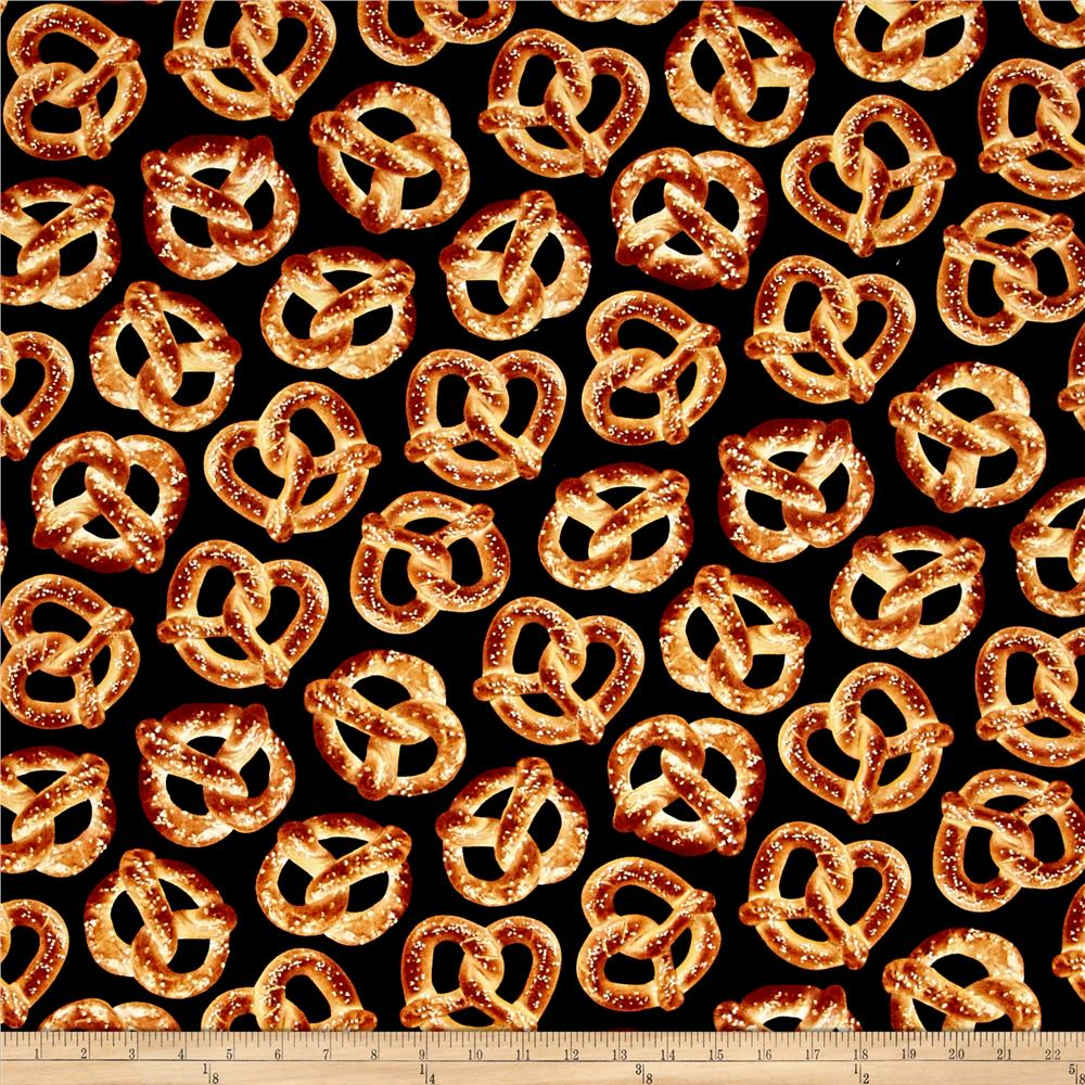 Timeless Treasures Foodie Pretzels Pretzel