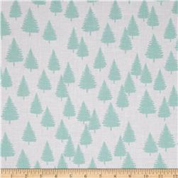 Moda Winterberry Winter Forest Snow/Mint