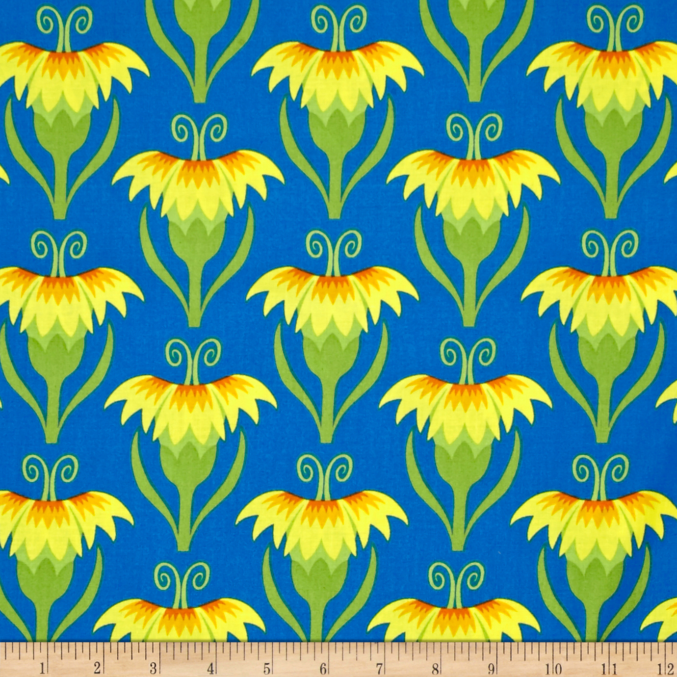 Jane Sassaman Cool Breeze Pretty Pinks Yellow Fabric by Westminster in USA