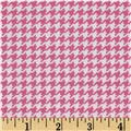 Michael Miller Tiny Houndstooth Pink