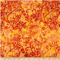 Timeless Treasures Tonga Batik Sunburst Paisley Candy
