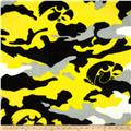 University of Iowa Fleece Camo Yellow