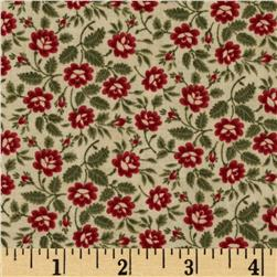 Moda Under the Mistletoe Delicate Floral Linen