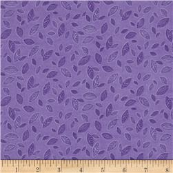 Cotton Candy Flannel Leaf Purple