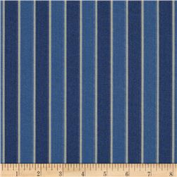 Nautica Indoor/Outdoor Patio Chair Stripe Atlantic Blue Fabric
