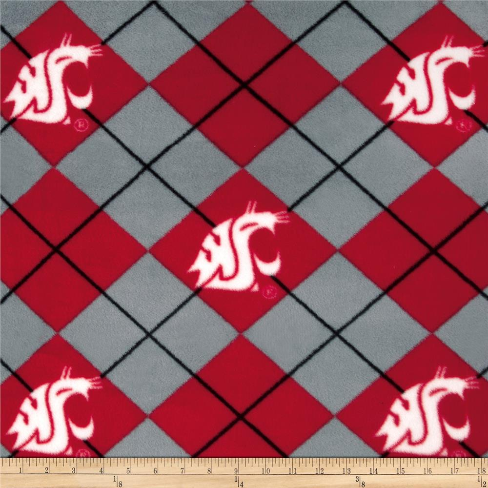 Collegiate Fleece Washington State University Fabric By The Yard
