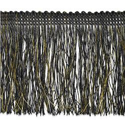 4'' Tamra Chainette Metallic Fringe Black/Gold
