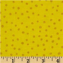 All That Glitters Polka Dot Calico Yellow Fabric