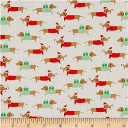 Dear Stella Christmas Darlings Dachshunds White