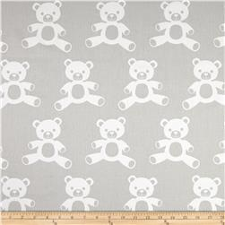 Premier Prints Teddy Twill French Grey/White