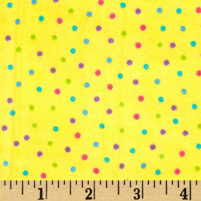 Flannel Mini Dots Yellow