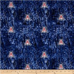 Collegiate Cotton Broadcloth University of Arizona Tie Dye Print Navy