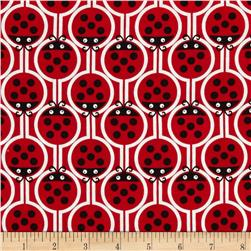 Kanvas Luv Bugs Lucky Ladybugs Red Fabric