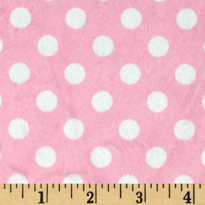 Minky Minnie Dots Light Pink/White