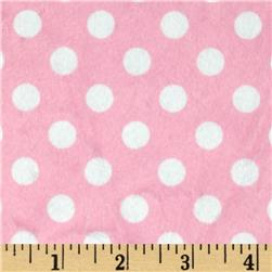 Minky Minnie Dots Light Pink/White Fabric