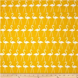 Premier Prints Flamingo Slub Corn Yellow Fabric