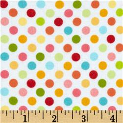 Riley Blake Hello Sunshine Flannel Hello Dots White