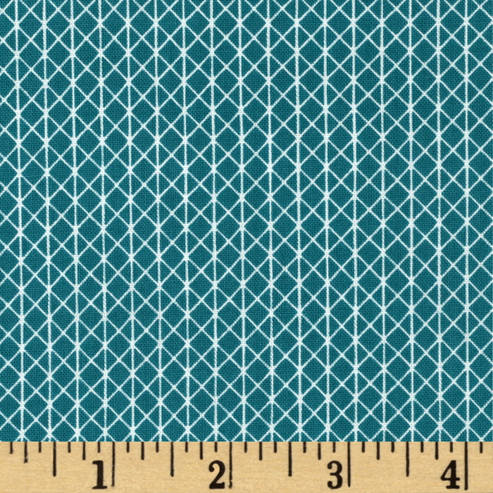 Image of Cotton + Steel Netorious Teal Fabric