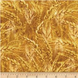 Timeless Treasures Judy Niemeyer's Reclaimed West Golden Wheat Yellow