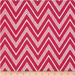 "Fanci Felt 36"" x By the Yard Chevron Shocking Pink"