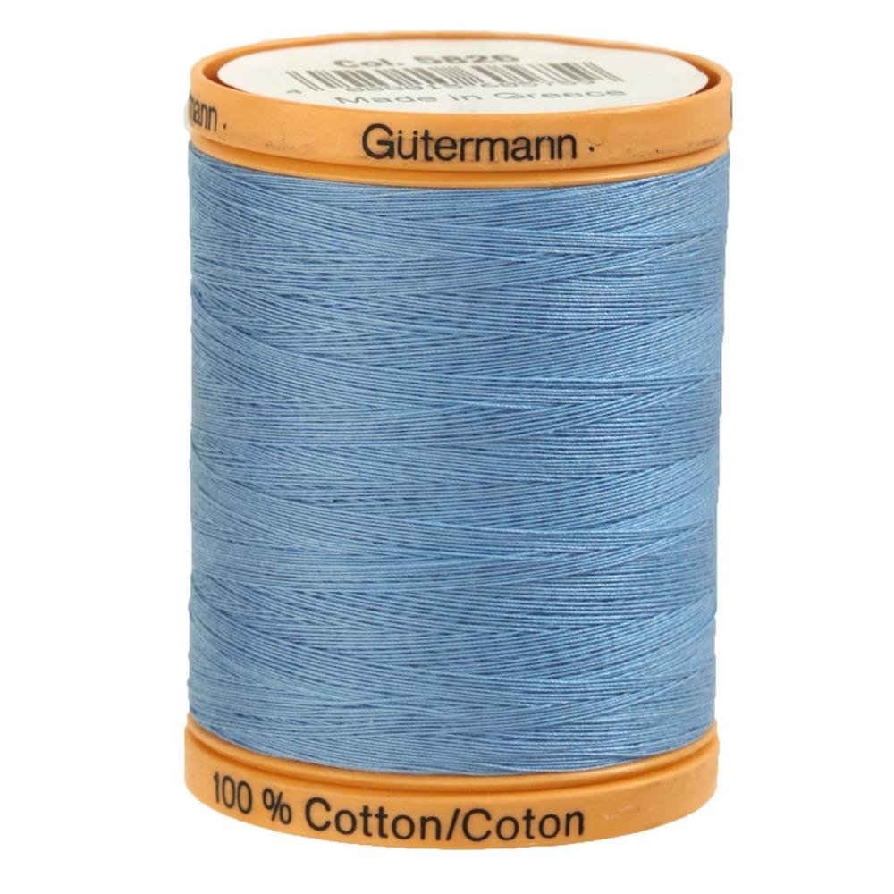 Gutermann Natural Cotton Thread 800m/875yds Carolina Blue