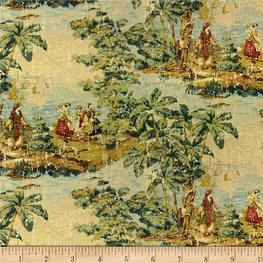 Forest Lake Fabric Home: Splendid Home Versailles Linen Forest