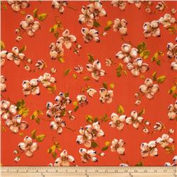 Garden Floral Broadcloth Orange