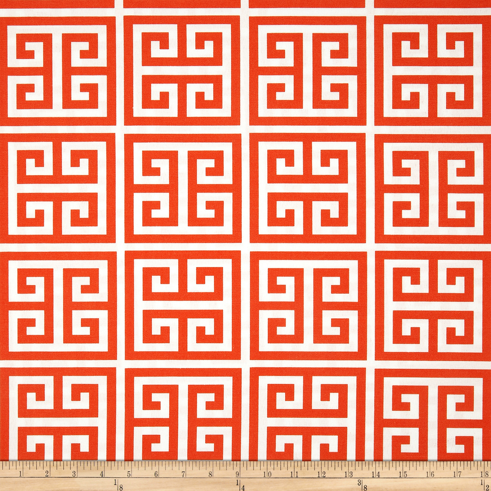 Premier Prints Indoor/Outdoor Towers Orange Fabric