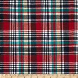 Madras Plaid Navy/Red/Green